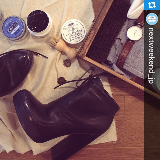 靴磨きのきほんを習得してみませんか?4.18satのイベントです♡詳細は@nextweekend_jpからご覧ください。#靴磨き女子部 #運命の靴#Repost @nextweekend_jp with @repostapp.・・・良い靴は、良い場所へ運んでくれる。そんな言葉があるけれど、輝くようなガラスの靴でなくても、自分だけのシンデレラシューズは家のシューケースの中に眠ってるかも。毎日自分を前に進ませてくれる履きなれた靴、初めてのデートで履いた思い出の靴、母がくれた古い靴、「いつか…」と願う憧れの靴。どんな靴でもしっかり靴磨きをすれば、それが自分にとってのシンデレラシューズになります。 今週のGreen Weekendは家に自分だけの#運命の靴 をつくります!応募は @nextweekend_jp のHP Eventページから♩