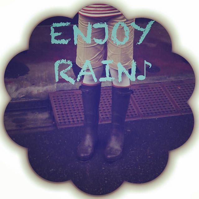 なにはともあれENJOY RAINってことで♪ #靴磨き女子部  #AIGLE