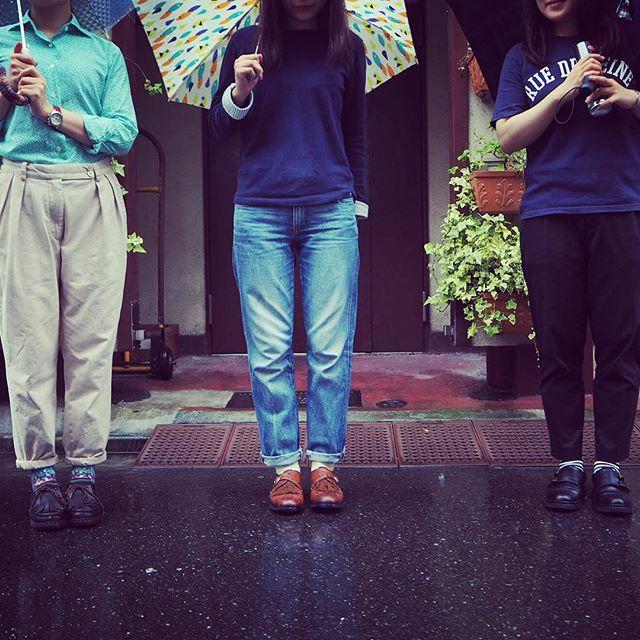 今日分かったコト。雨の日、靴磨き女子部はパラブーツ率が高い。 #靴磨き女子部 #paraboot #パラブーツ