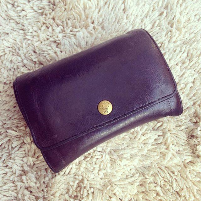 わたしが5年程愛用しているIL BISONTEのお財布です︎パープルですが、黒にもネイビーにも見える絶妙な色がお気に入りです。たまにM.モゥブレィ デリケートクリームを塗ってあげることで、ひび割れもなくエイジングすることができますよ♪まだまだ使います! !#靴磨き女子部 #靴磨き女子部せんちゃん #お財布 #ILBISONTE #イルビゾンテ#デリケートクリーム #エイジング