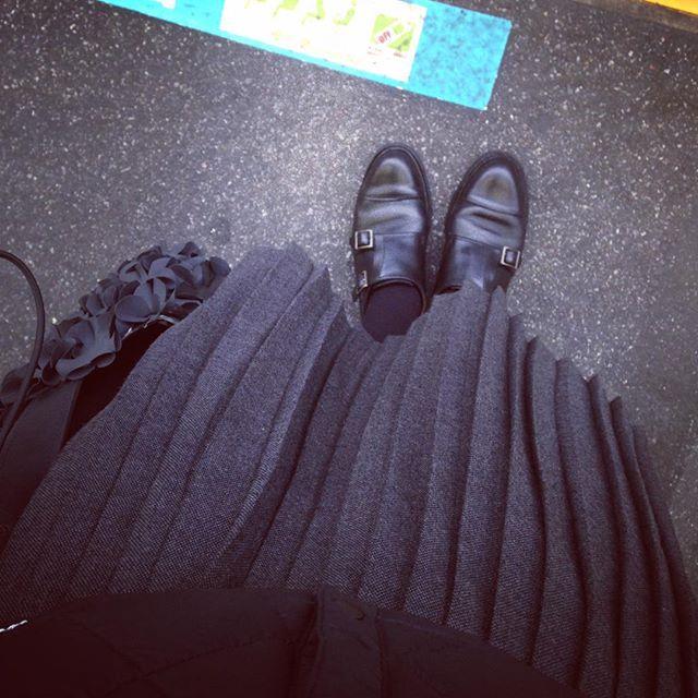 黒が好きです︎#靴磨き女子部 #靴磨き女子部せんちゃん #paraboot #パラブーツ