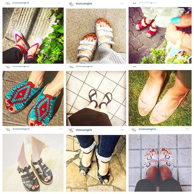 初夏のような暑い日が続いてますね。足元もそろそろ夏仕様にしようと、1年前の靴磨き女子部のみんなの足元コーディネートを参考に♬今年のサンダルはどんなものを買おうかなと考えると楽しくなります︎HP: @shoecaregirls#靴磨き女子部#バクバクコアラ#足もと倶楽部#サンダル#夏仕様