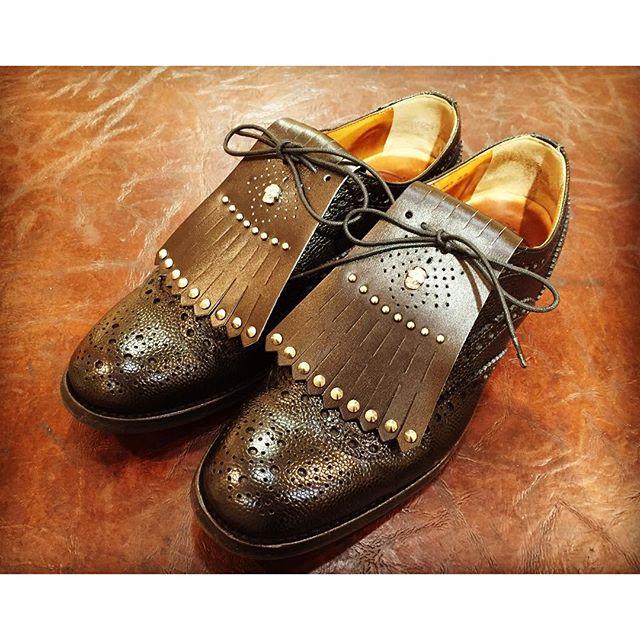 お気に入りのChurch'sにキルトをオン!かなりいい感じです。HP: @shoecaregirls#靴磨き女子部 #churchs #チャーチ #チェットウインド #くのいち #shoes #靴 #足元くら部 #キルト