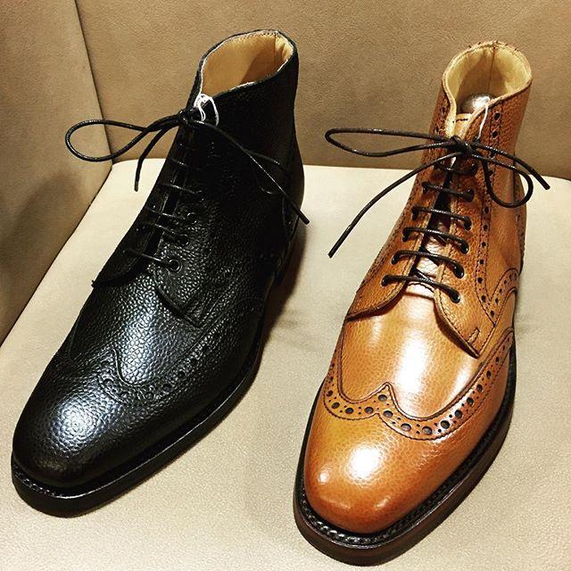 ブーツの季節がすぐそこまで来てますね#shoes #boots #barker #England #polish #shoecare #mowbray #englishguild #足元くら部 #靴磨き女子部 #エスプリ軍曹登場 #シボ革 #シボ萌え #履きジワ目立たないし@shoecaregirls