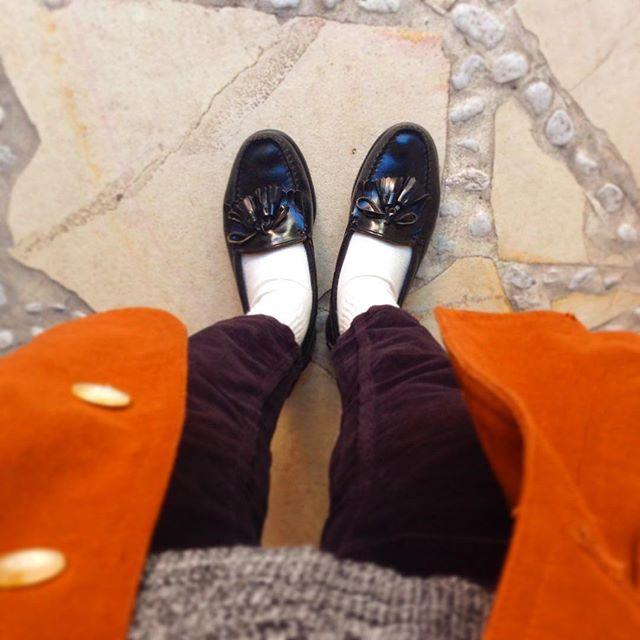 お気に入りのローファーです#靴磨き女子部オノシャルD #靴磨き #革靴手入れ #ローファー #コールハーン #古着