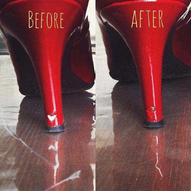 初めて履いた日にキズを作ってしまった…もう3年くらい前の話ですが。これくらいのキズならレザーマニキュアで目立たないように出来ますHP:@shoecaregirls #靴磨き女子部#靴磨き女子部ピンクレンジャー#ハイヒール#パンプス#ダイアナ#靴のお手入れ #靴の修理 #通勤スタイル #shoecare#shoecaregirls#enamel#highheelspumps