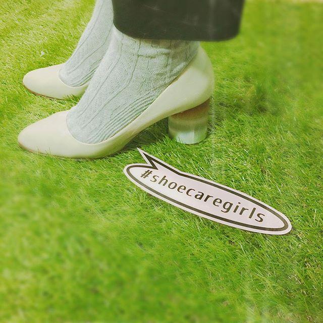 春なの!?というくらい暖かい日でした︎こういう日は冷えを気にせずパンプスが履けるので嬉しいです。HP:@shoecaregirls #靴磨き女子部#パンプス#靴下コーデ #通勤コーデ#チャンキーヒール#靴磨き女子部のコーディネート#バクバクコアラ#verotwiqo#靴磨き#mowbraymania#enamel#shoecaregirls