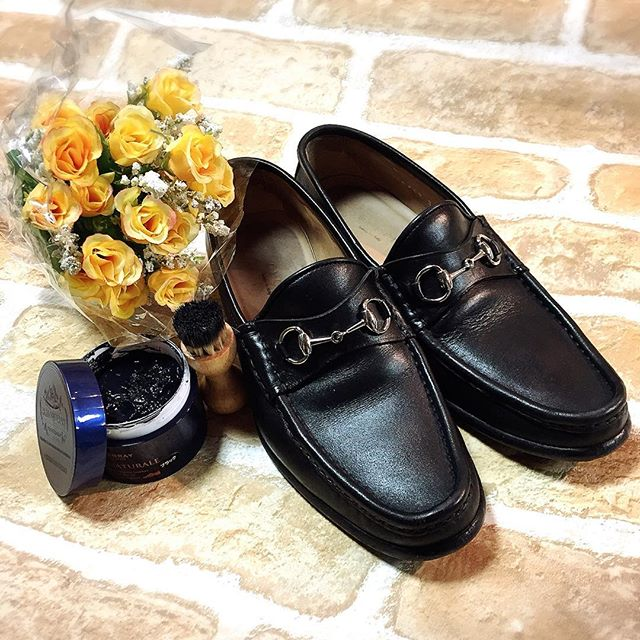 .usedのローファー、自分なりのケアで馴染ませていきたいですね、、、@shoecaregirls#ローファー#gucci#mowbraymania #mmowbray #shoecare #靴磨き女子部#グリーンメン#クリームナチュラーレ