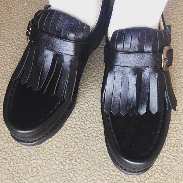仲間入りしました梅雨ですが、いっぱい履きます#オノシャルD #mowbray同盟 #靴磨き女子部 #パラブーツ#paraboot