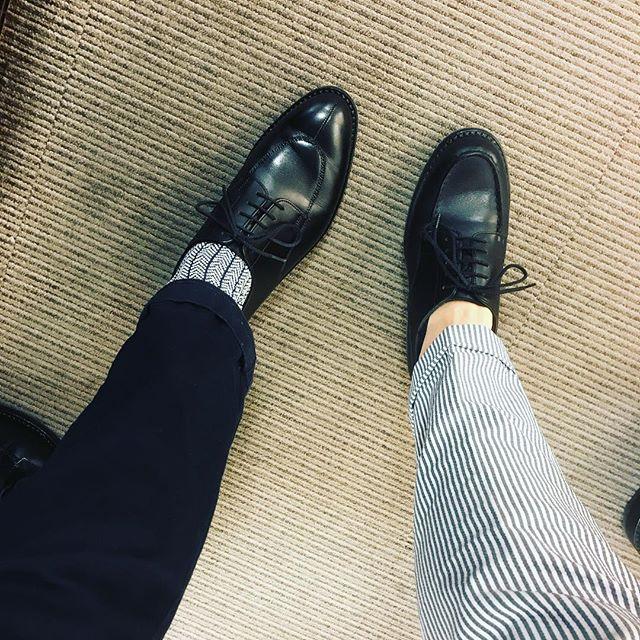 ダブルうぇすとんず#shoecaregirls #jmweston #golf #641 #594 #black #kicks #fashion #fashionphotography #pants #靴磨き #jmウェストン #革靴 #足元倶楽部 #モゥブレイ #mowbray #mowbraymania #エスプリ軍曹登場