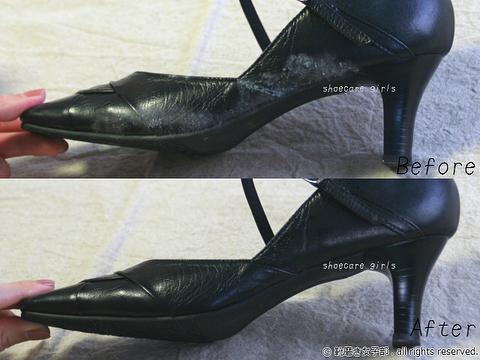 """.靴磨き女子部 Shoe Care Recipe 更新しました。8回目のテーマはカビの対処法就活の記憶が蘇るこの靴。思い出の靴なのですが、見事なカビが…しかし優秀なモールドクリーナーのおかげでこんなに綺麗になりました!皆様にも、諦めないでほしいです詳細は靴磨き女子部のホームページ""""Recipe""""から!...HP:@shoecaregirls#靴磨き女子部#足元倶楽部#靴磨き女子部ピンクレンジャー#おしゃれさんと繋がりたい#足元くら部#就職活動#靴って大事#印象が変わる#就活#就活靴#shoecarerecipe #shoecaregirls#mmowbray#mowbraymania#仕事靴#シューケアレシピ#shoecare#お手入れ#足元美人#女の嗜み#黒靴 #パンプス.."""