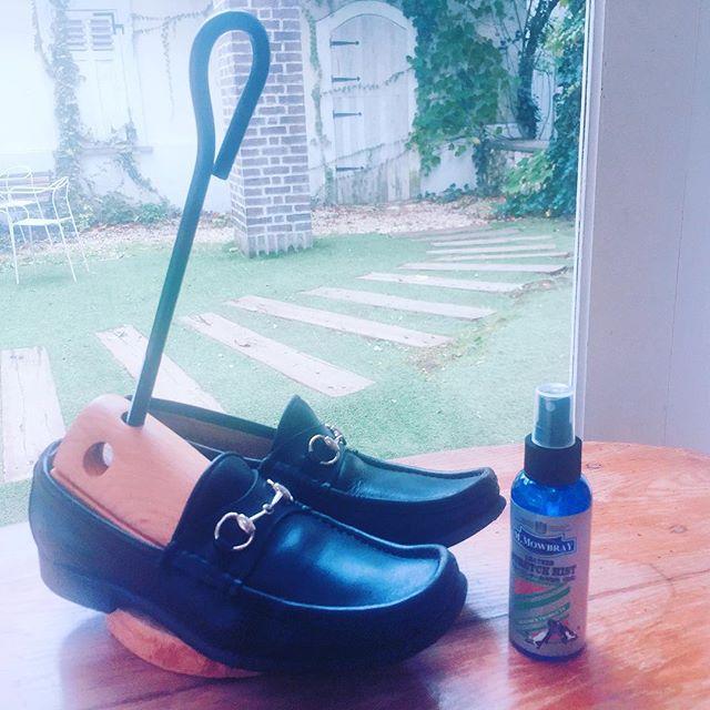 .履きたい、、でもキツくて履けない、、、そんな靴お持ちではありませんか?革靴は伸ばしやすいので、ストレッチャーで幅も甲の高さも拡げることができます。お持ちのローファーにストレッチャーを入れて、【レザーストレッチミスト】を使うと、より拡がりやすくなりますよHP:@shoecaregirls#靴磨き女子部#グリーンメン#mmowbray #そこの靴諦めないで#レザーストレッチミスト#甲高ストレッチャー#gucci #ビットローファー#shoescare #革靴#shose #mowbraymania#靴磨き