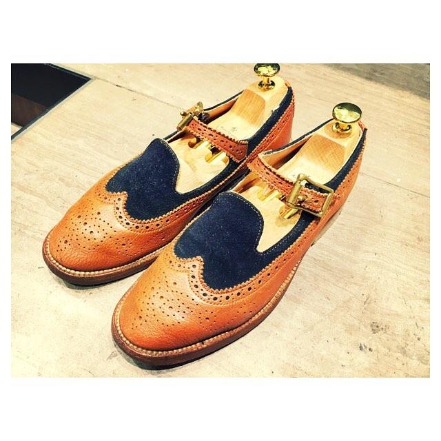 .女性の靴にもシューズキーパーを.サルトレカミエではレディースサイズのシューズキーパーあります#靴磨き女子部#靴磨き女子部こびと #mowbraymania #シューズキーパー#サルトレカミエ#100ex #型崩れ防ぎます#yuketen