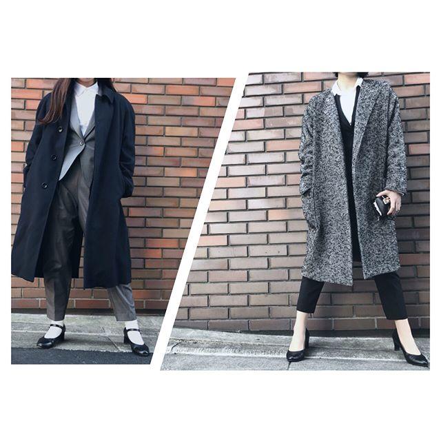 .ばくばくジュニア×モノクロすけ🕺同期コンビです♀️ ..今日は会社のイベントがあり、かっちりコーデでの出勤♂️パシャパシャしていたら、、、なんと上司が登場してくれました!.みなさんおしゃれなので、毎日いろんなファッションが見れる事に幸せを感じています️ ..#ばくばくジュニア#モノクロすけ#靴磨き女子部#mowbray #mowbraymania#shoecare#shoecaregirls#ootd#fashion#おしゃれさんと繋がりたい#今日のコーデ#black#gray#heels
