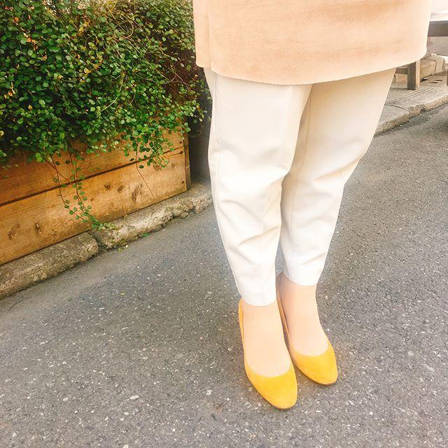 今日はイエローのスエードパンプスを履いてます綺麗な発色を保つには、こまめなスエードの保革がポイントです︎専用スプレーとブラシを使います♩お手入れは(2枚目)→→→→ ●M.モゥブレィ スエードカラーフレッシュ ニュートラル¥1500+tax ● M.モゥブレィ クワトロコンビブラシ ¥600+tax#靴磨き女子部#shoecaregirls #パンプスコーデ #スエード#あしもと倶楽部 #靴磨き#春服 #春靴#mowbray