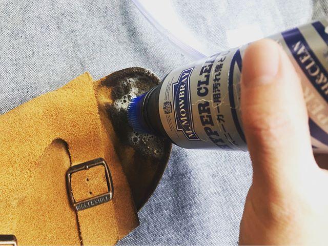 ビルケンシュトックに付いた足指の跡…脱いだ時気になりますよね ∞∞∞∞∞洗ってみました!#ビルケンシュトック #birkenstock #サンダル #サンダルコーデ #シューケア #shoecare #あしもと倶楽部 #おしゃれさんと繋がりたい #mmowbray #mowbraymania #しじみ #靴磨き女子部s