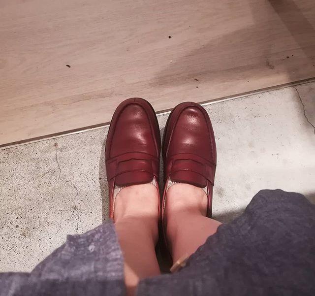 パンツと合わせても、ワンピースと合わせても。かわいいと評判の一足です。#shoe2018#jwweston#180#robesandconfections#onepiece#ladiesshoes#leathershoes#fashion#ladiesfashion #ootd#靴磨き女子部#靴磨き女子部k#shoecaregirls