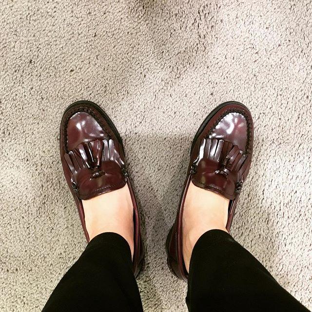 本日のお靴#仕事スタイル#靴磨き女子部#足元倶楽部 #G.H.Bass#靴好きな人と繋がりたい#shoecaregirls #靴磨き女子部y