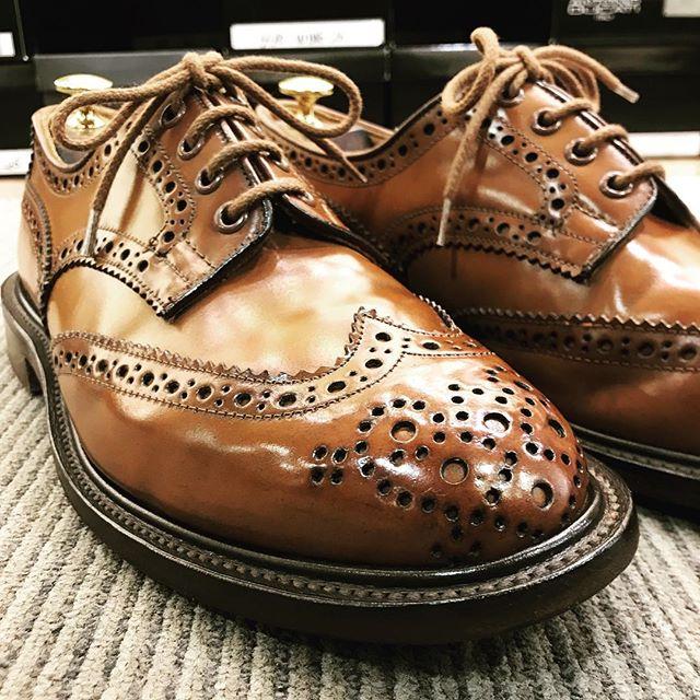 JUNYA WATANABE MANコムデギャルソンTrickersいとうつくし***#靴磨き女子部 #trickers #junyawatanabecommedesgarcons #junyawatanabe #shoes#あしもと倶楽部 #shoecaregirls #mowbraymania #靴磨き#靴磨き女子部p #コードバン#トリッカーズ#コムデギャルソン