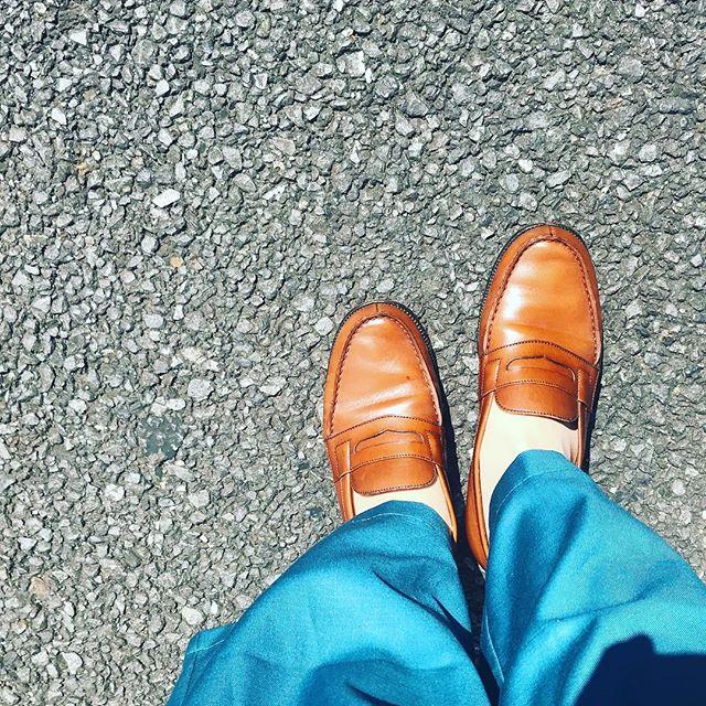 梅雨の晴れ間️靴にとっても嬉しい天気ですね😎️